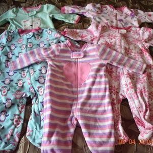 6-9m Baby Girl Pajamas
